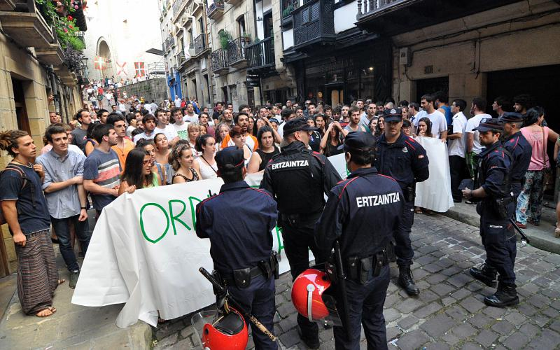 Hondarribiko Jaiak. Gazteen protesta