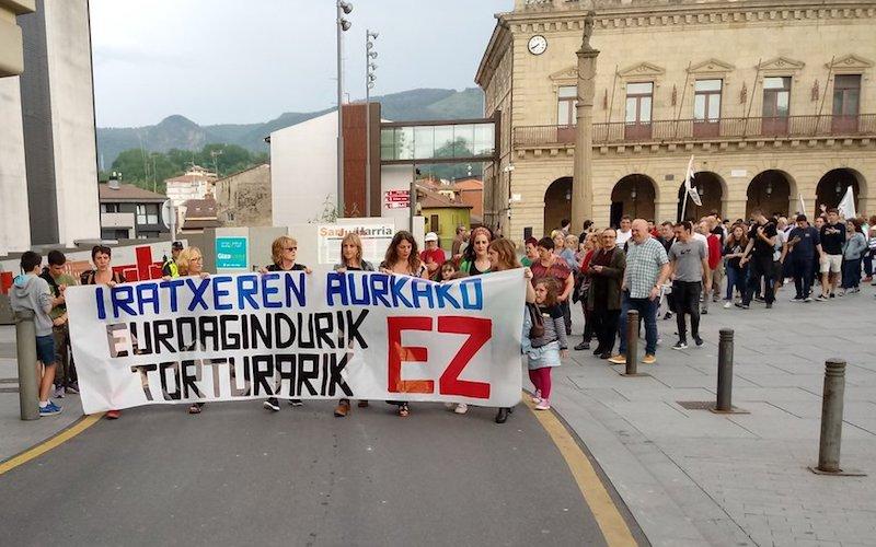 Iratxe Sorzabalen aldeko manifestazioa.