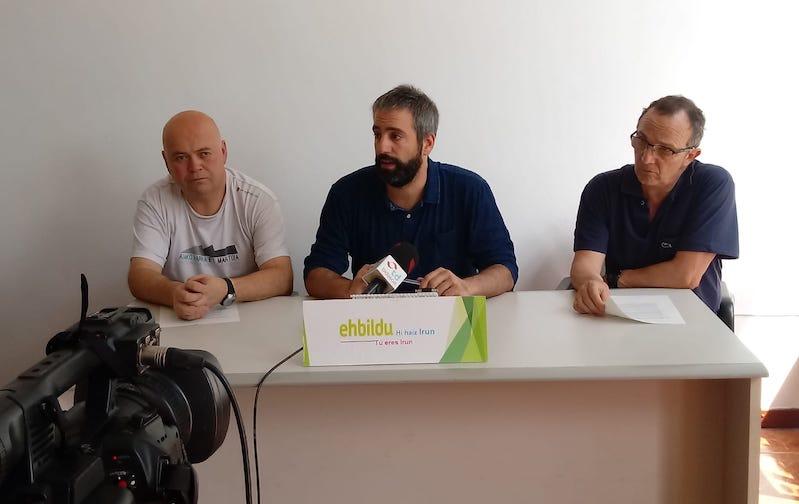 Concejales de EH Bildu de Irun en rueda de prensa