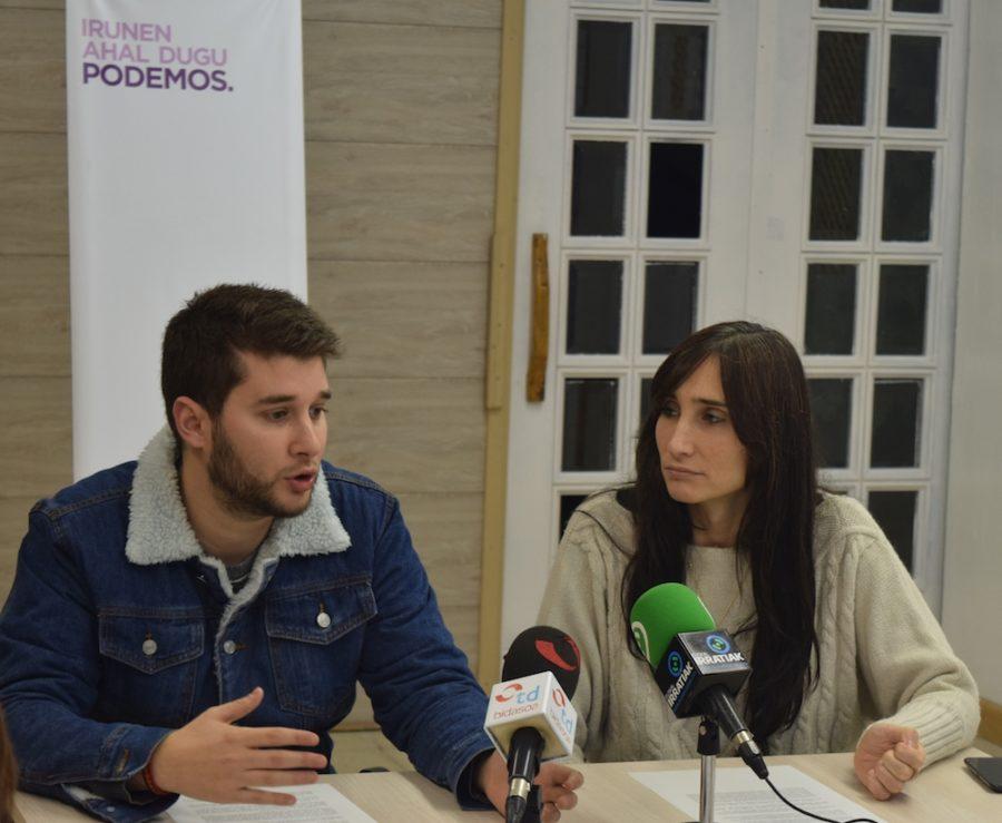 David Soto y Miren Echeveste en rueda de prensa