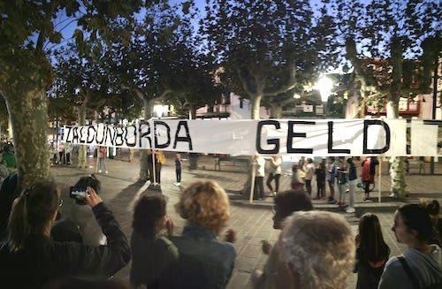 Zaldunbordako proiektuaren aurkako protesta, San Pedro kalean.