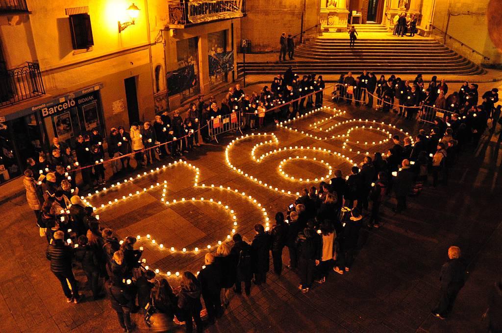 Euskararen Eguna 365 egunetan izatea aldarrikatu zuten Errenteria-Oreretan 2014an.
