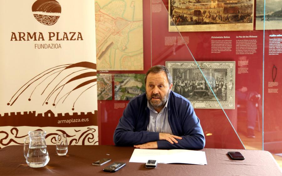 Txomin Sagarzazu alkatea Arma Plaza fundazioaren 2019. urteko balorazioa eta 2020ko aurreikuspenak eskaintzen.