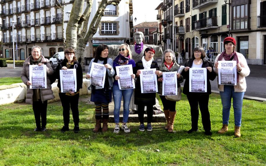 M8a aurkeztu du Bidasoko asanblada feministak