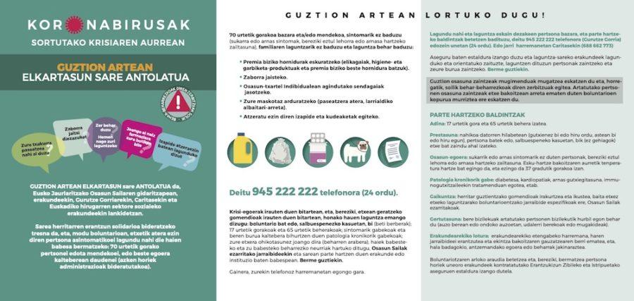 Guztion Artean boluntario sarea.