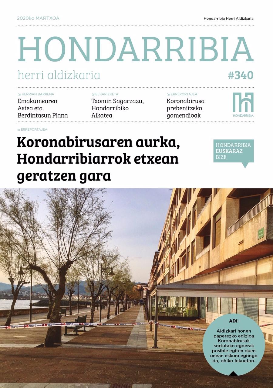 'Hondarribia' euskarazko udal aldizkariaren 2020ko matxoko zenbakia.