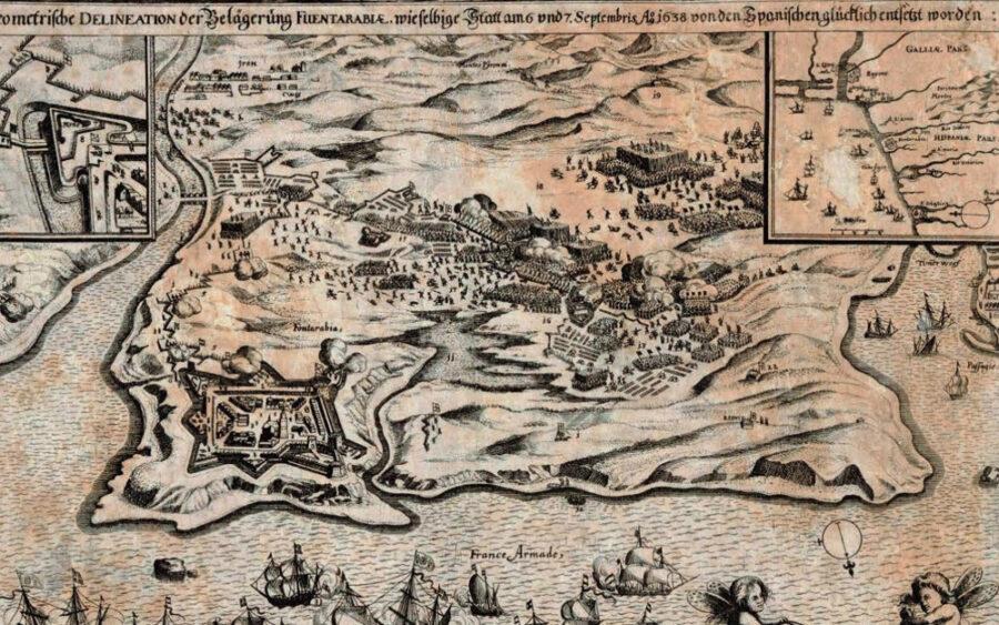 Hondarribia 1638. urtean.
