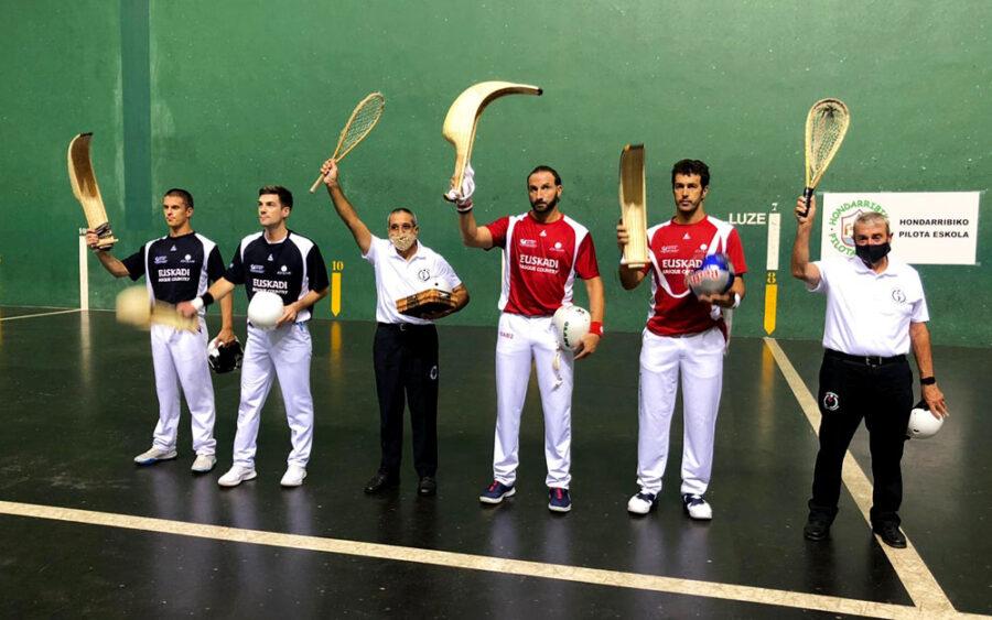 Hondarribia Grand Slam txapelketako finalerdiak, gaur, Jostaldin [Irudia: Guk Jai Alai].