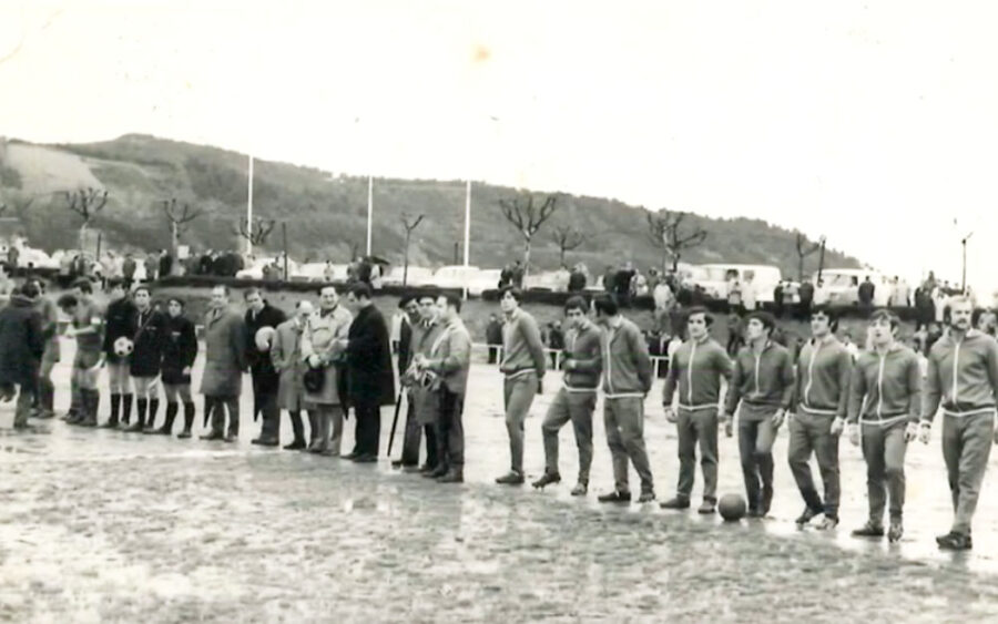 Hondarribia-Don Bosco partida, 1975ean. [Irudia: Fernando de Leon]
