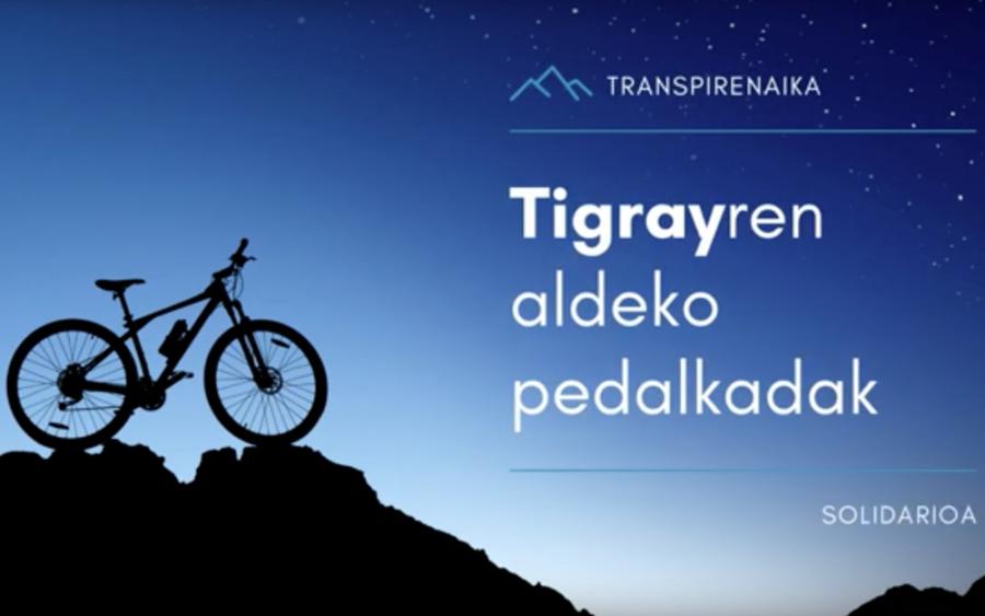 Tigrayren aldeko pedalkadak iniziatiba.